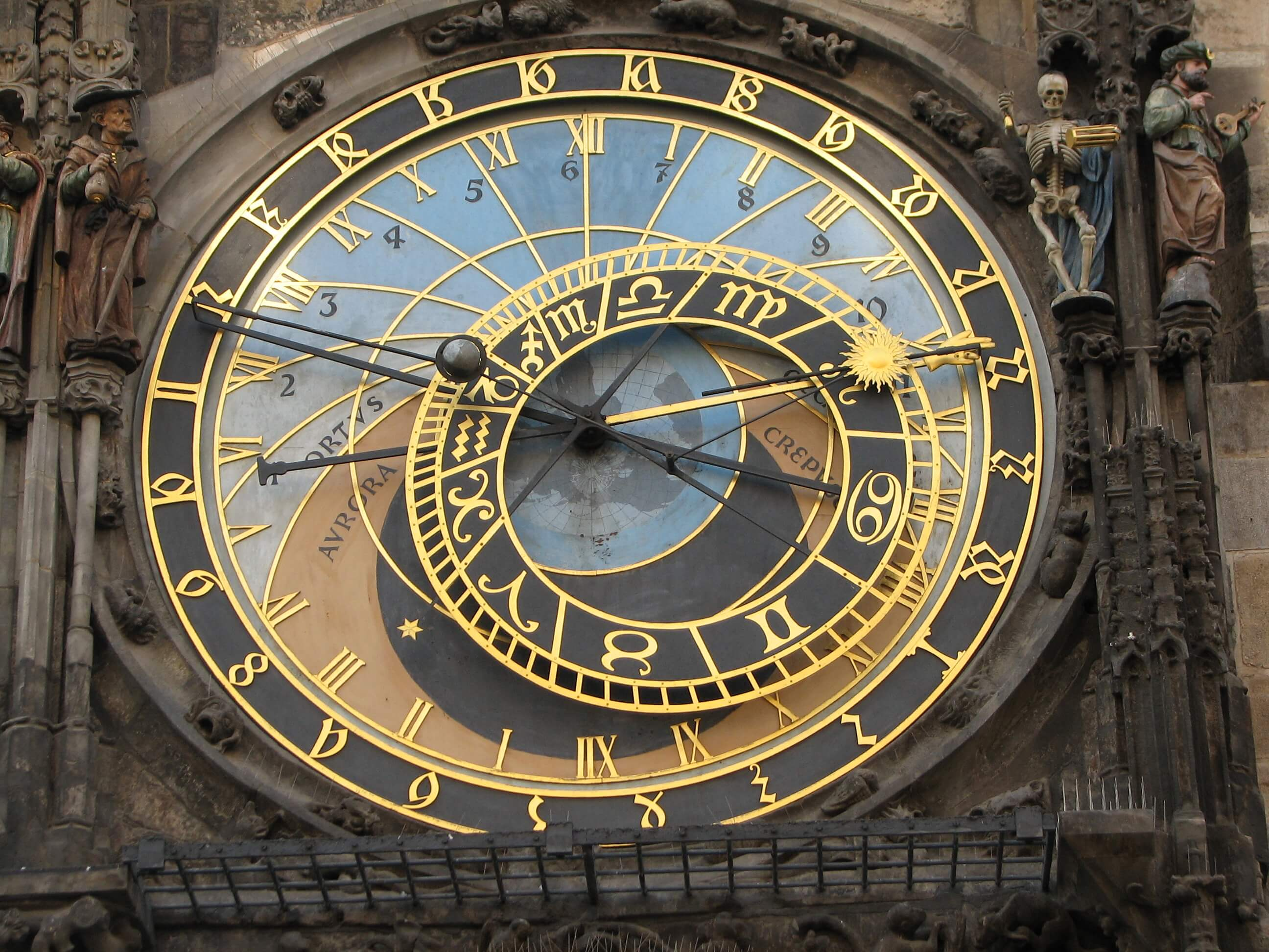 Astronomical Clock Prague Close Up