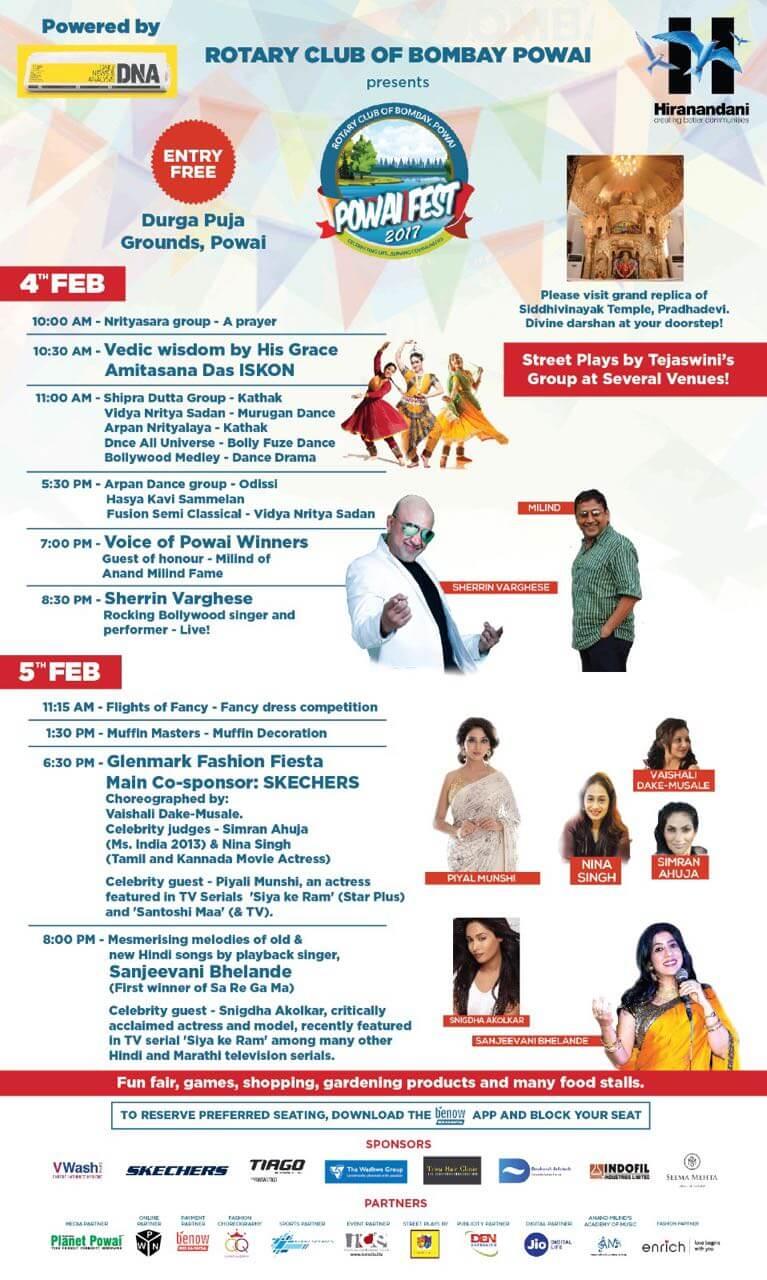 Powai Fest event schedule
